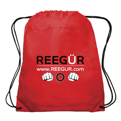Red REEGUR Cinch Bag